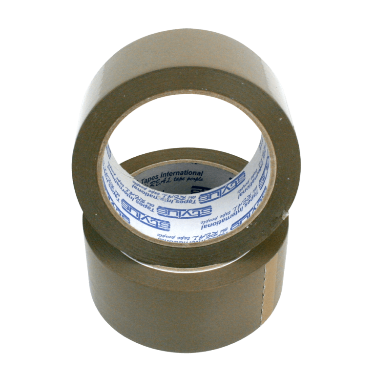 brown tape 48mm x 75m 2 768x768 - 4875RUBBERBRO Tape - Natural Rubber PP202 (Brown)
