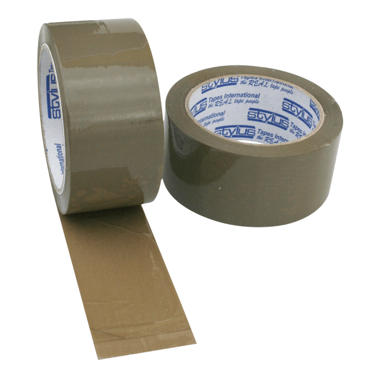 brown tape 48mm x 75m 3 768x768 - 4875RUBBERBRO Tape - Natural Rubber PP202 (Brown)