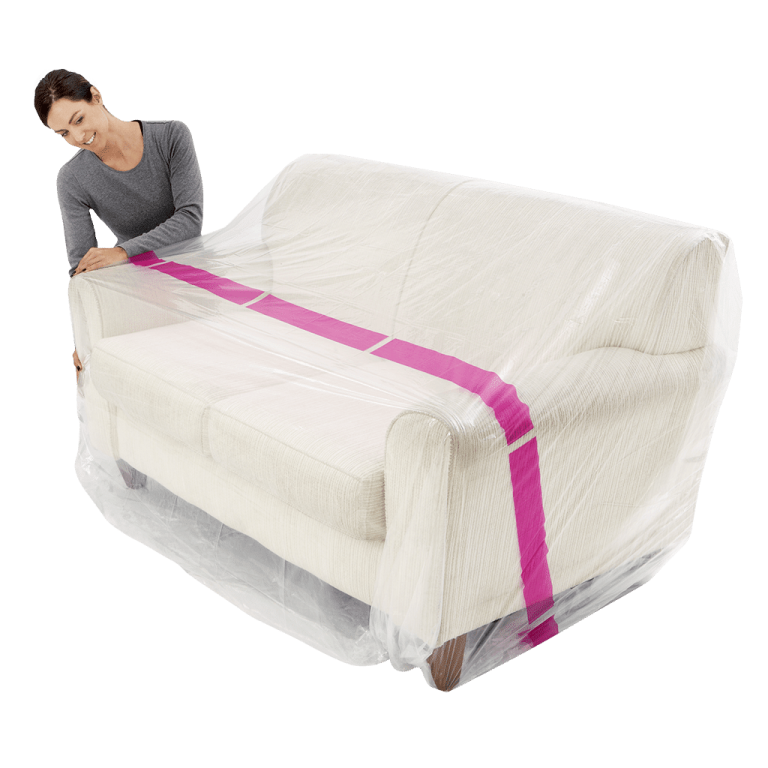 furniture cover 3 seater couch individual pack 2 768x768 - BP3S - Plastic Furniture Cover – 2/3 Seater Couch (Pack of 1)