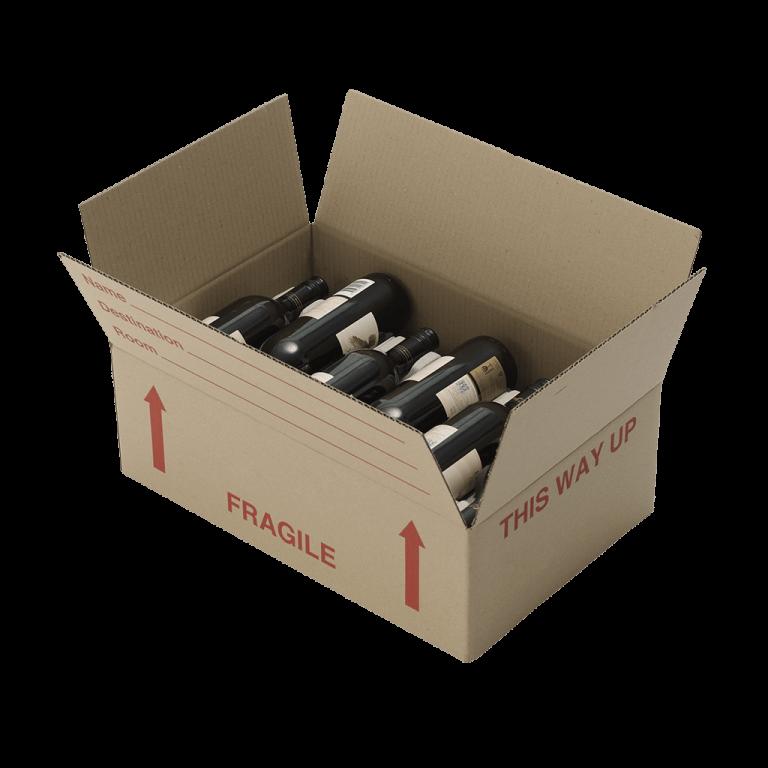 lay flat wine box 1 768x768 - WINEIN6BG 6 Bottle Wine Insert to suit Lay Flat Wine Box