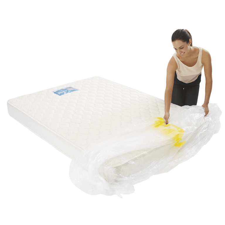 mattress cover king individual pack 3 768x768 - Plastic Mattress Cover - King (Pack of 1)