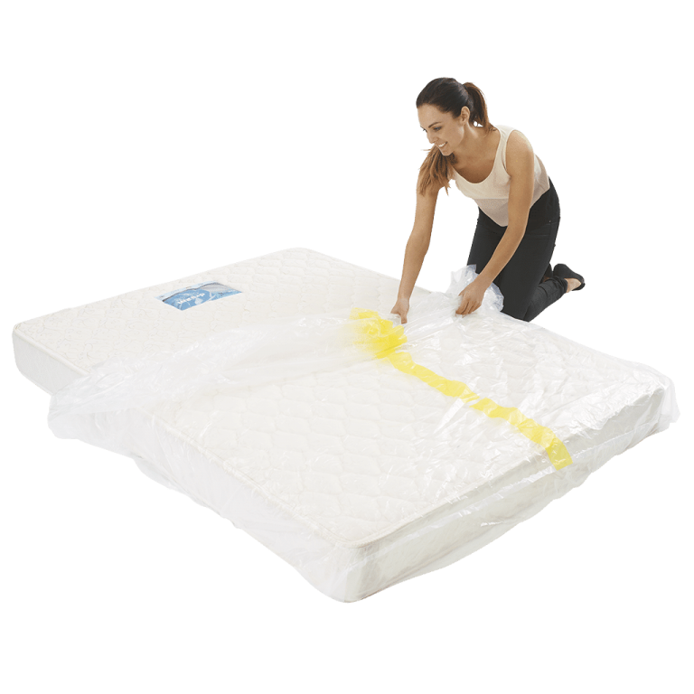 mattress cover king individual pack 4 768x768 - Plastic Mattress Cover - King (Pack of 1)