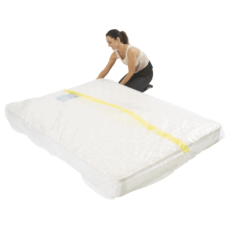 mattress cover king individual pack 5 768x768 - Plastic Mattress Cover - King (Pack of 1)
