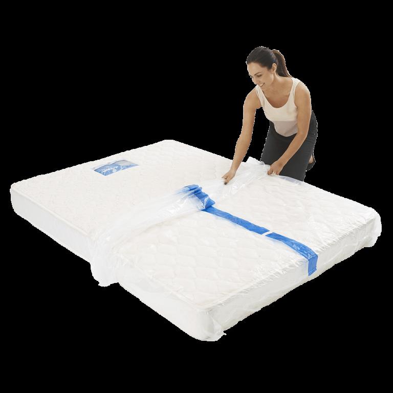 mattress cover queen individual pack 3 768x768 - BPQM Plastic Mattress Cover – Double / Queen (Pack of 1)