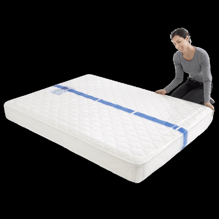 mattress cover queen individual pack 5 768x768 - BPQM Plastic Mattress Cover – Double / Queen (Pack of 1)