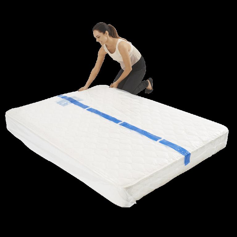 mattress cover queen individual pack 6 768x768 - BPQM Plastic Mattress Cover – Double / Queen (Pack of 1)