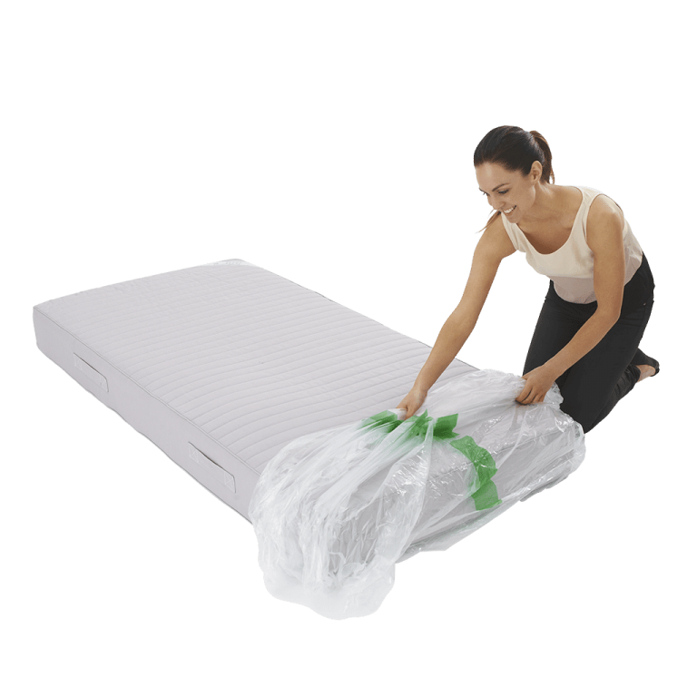 mattress cover single individual pack 2 768x768 - Plastic Mattress Cover - Single (Pack of 1)