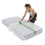 mattress cover single individual pack 3 150x150 - Plastic Mattress Cover - Single (Pack of 1)