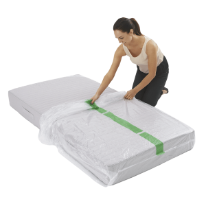 mattress cover single individual pack 3 300x300 - Plastic Mattress Cover - Single (Pack of 1)