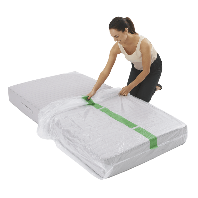 mattress cover single individual pack 3 768x768 - Plastic Mattress Cover - Single (Pack of 1)