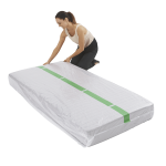 mattress cover single individual pack 4 150x150 - Plastic Mattress Cover - Single (Pack of 1)