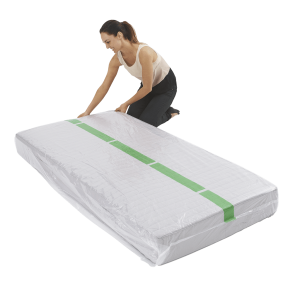 mattress cover single individual pack 4 300x300 - Plastic Mattress Cover - Single (Pack of 1)