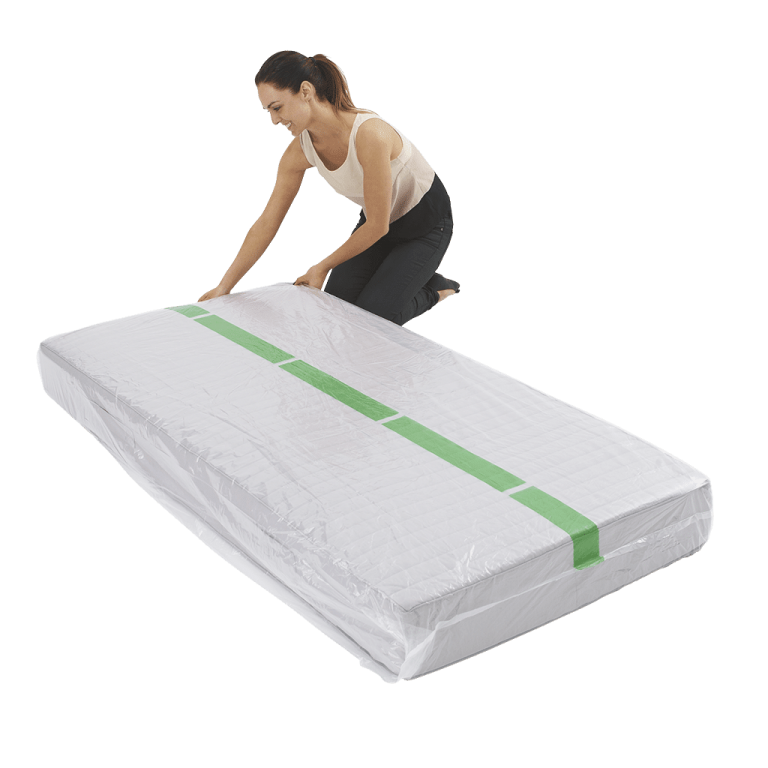 mattress cover single individual pack 4 768x768 - Plastic Mattress Cover - Single (Pack of 1)