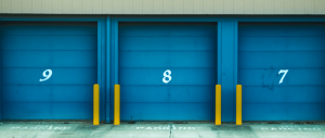 A bunch of storage units next to each other