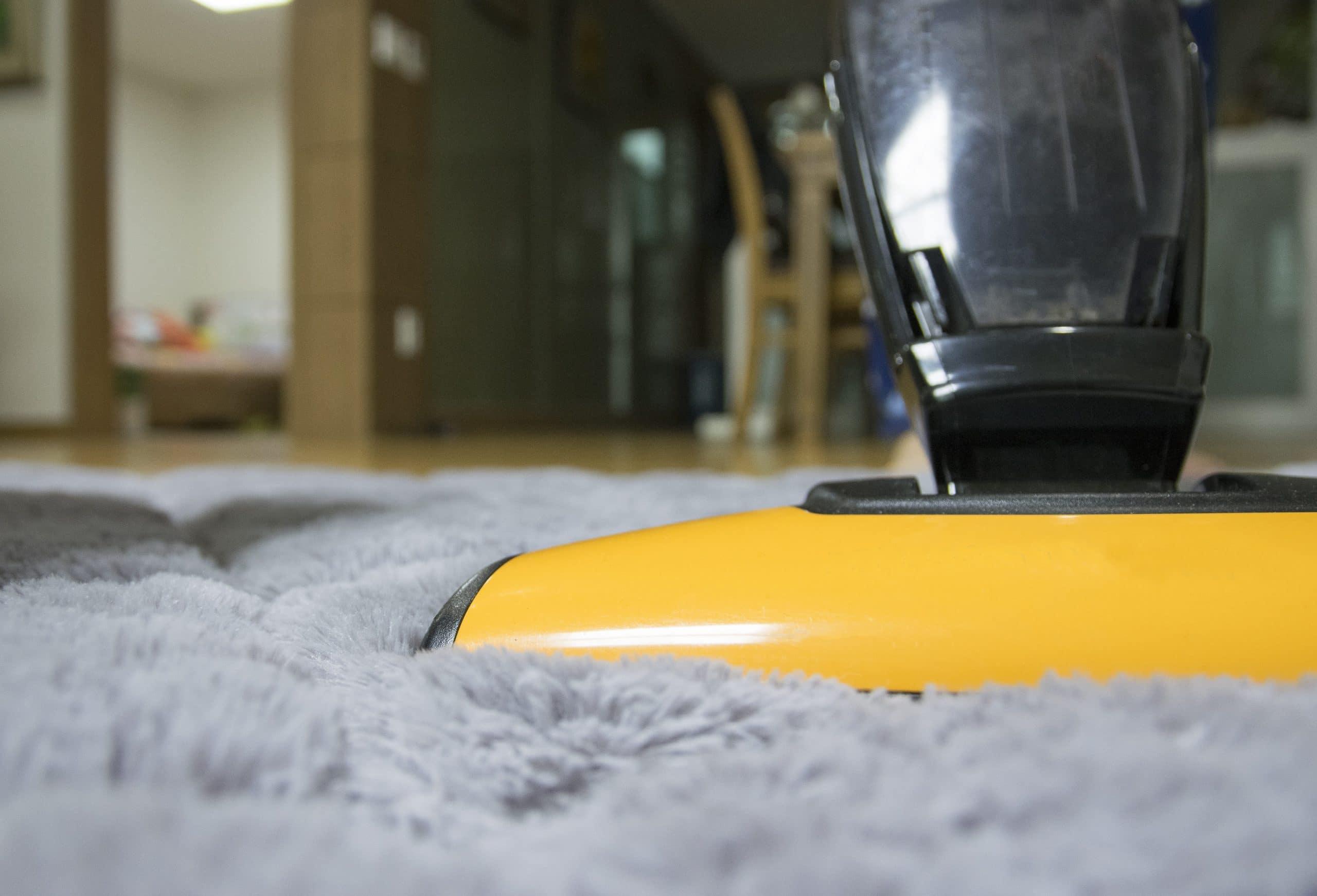 hoovering floor